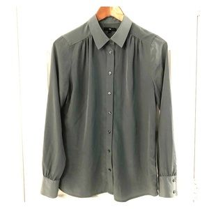GAP button down blouse - green/grey color.